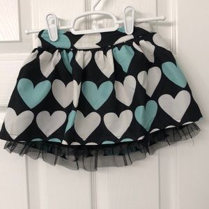 Heart skirt with ruffle tulle